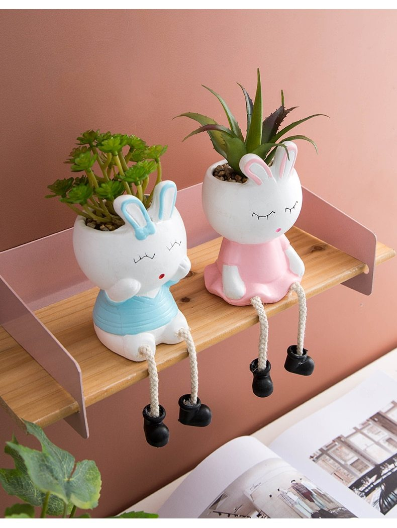 Rabbit Bunny Hanging Feet Pot