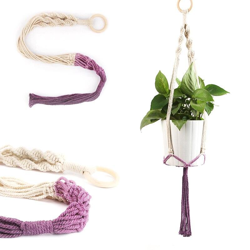 Colored Macrame Plant Hangers