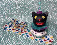 Load image into Gallery viewer, Kitty in a Cup Totem - Purple Aqua
