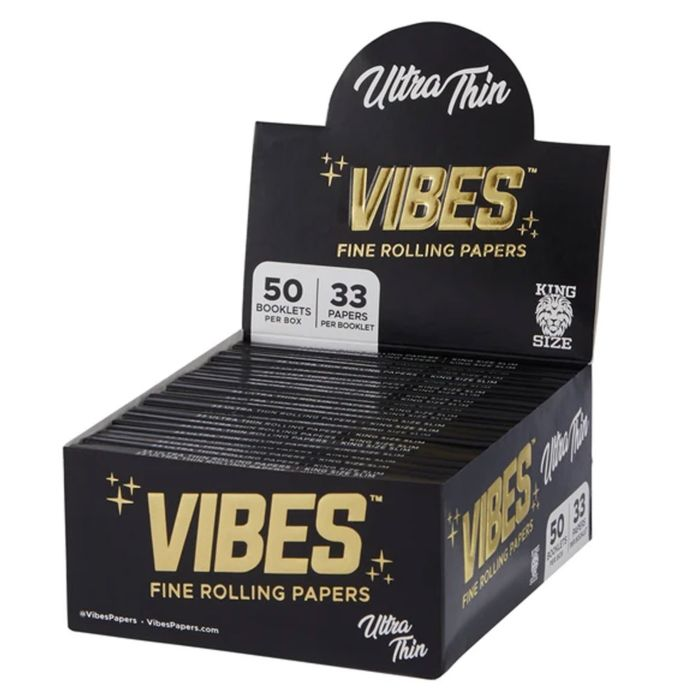 VIBES Black King Size Slim Ultra Think Papers