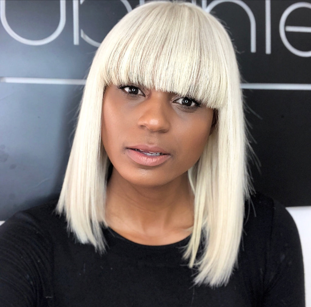 Blonde Bob Wig with Bang