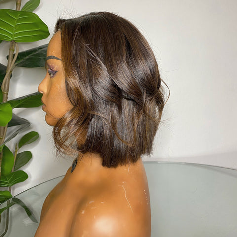 Raw Cambodian Hair - Bob with lace closure and colour