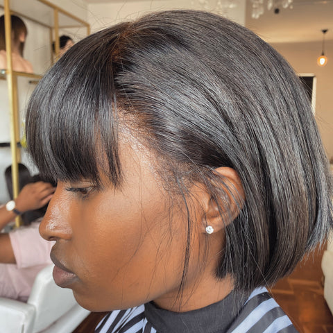 Lace frontal Bob Wig With Bang