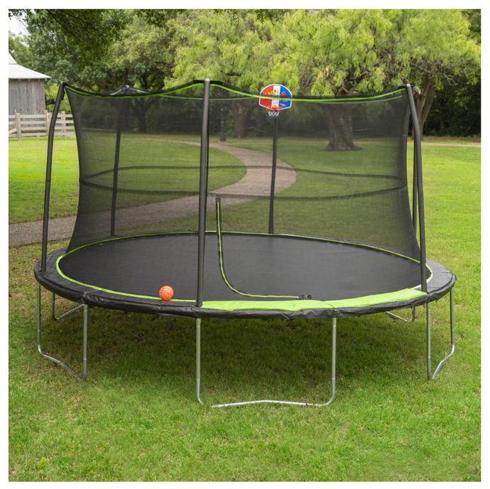 JUMPKING® 14' Trampoline Combo with Basketball Hoop