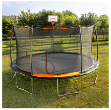 Load image into Gallery viewer, JUMPKING® 15' Trampoline 7 Legs / 7 Poles with Universal Basketball Hoop