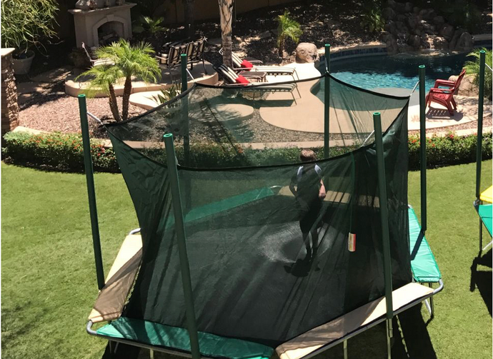 MAGIC CIRCLE TRAMPOLINE 14' HEXAGON MAGIC CAGE (MAGIC CANOPY SOLD SEPARATELY)