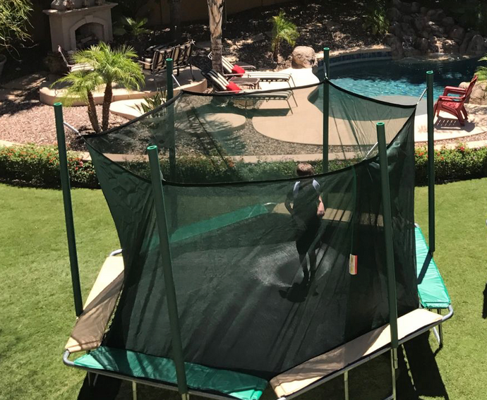 14' HEXAGON MAT/CAGE REPLACEMENT FOR A MAGIC CIRCLE TRAMPOLINE