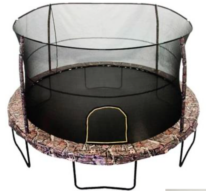 JUMPKING® 14' Mossy Oak Trampoline with MOSSY OAK ARIAFLEX printed safety pad