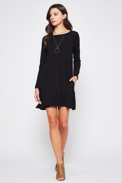 Basic Black Swing Dress