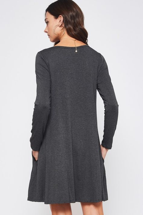 Basic Gray Swing Dress