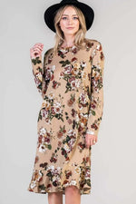 Sweater Weather Dress in Victorian Floral