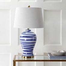 Load image into Gallery viewer, Joelle 29 in. Blue/White Ceramic Table Lamp by JONATHAN Y