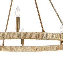 Load image into Gallery viewer, Abaca 8-Light Chandelier in Satin Brass