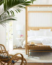 Load image into Gallery viewer, Natural Raffia - Franklin Four Poster Bed Queen