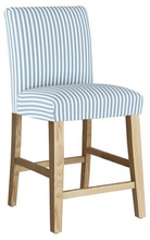 Load image into Gallery viewer, Shane Counter Stool, Blue Stripe Linen