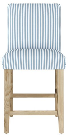 Shane Counter Stool, Blue Stripe Linen