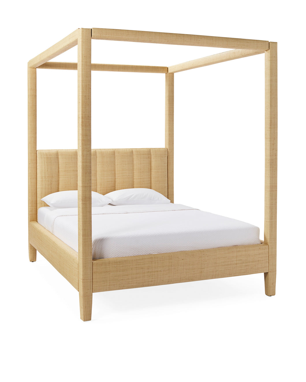 Natural Raffia - Franklin Four Poster Bed Queen