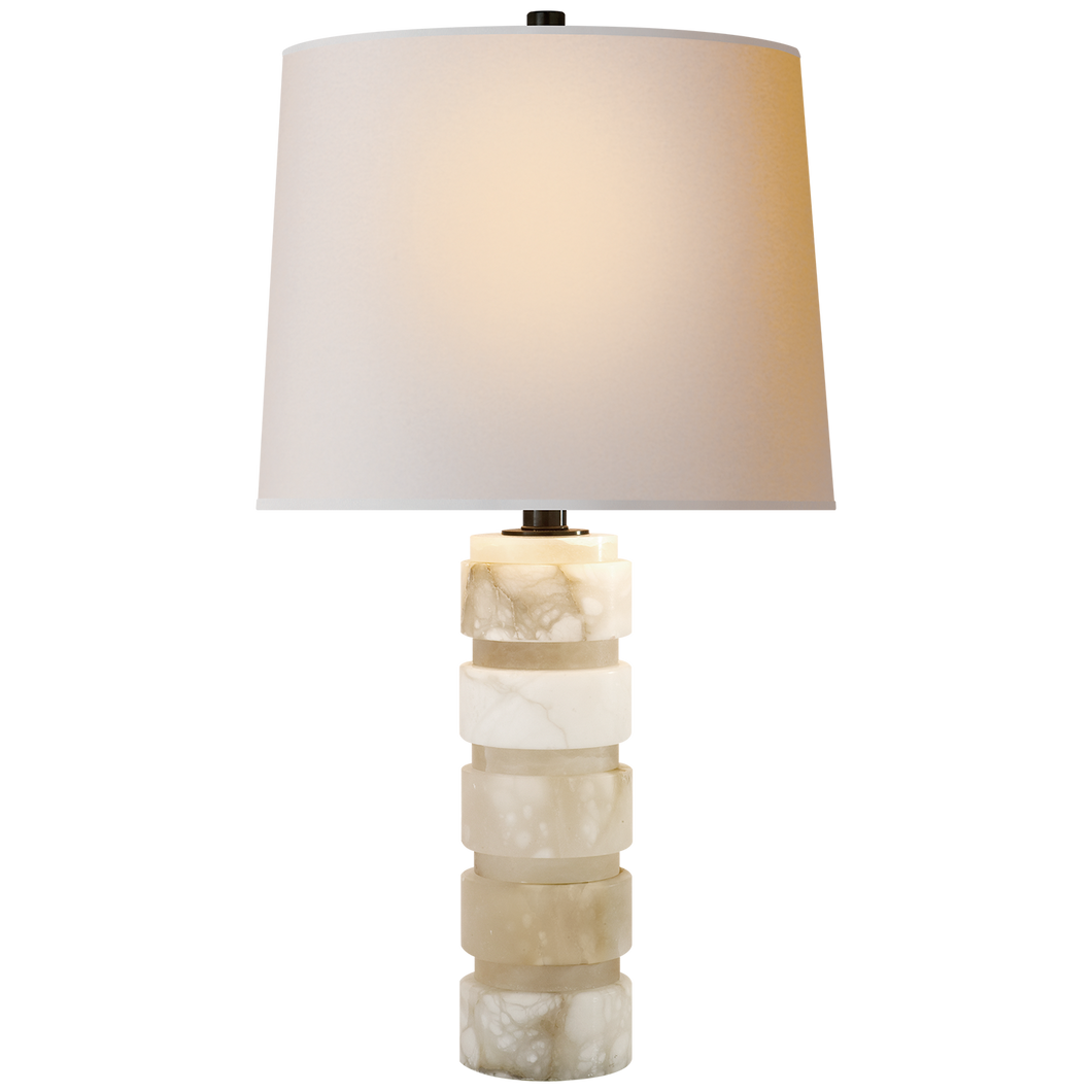 Stacked Marble Lamp Round