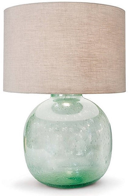 Seeded Recycled Glass Table Lamp by Regina Andrew