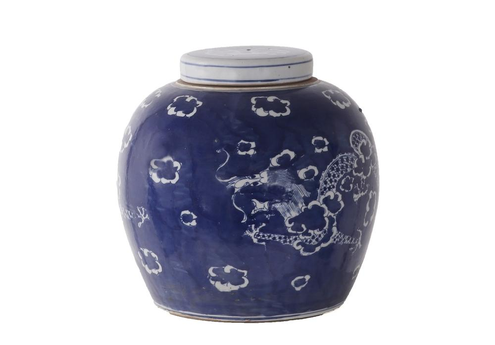 BLUE AND WHITE CLOUD JAR