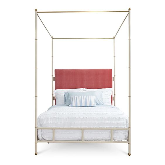 Leather and Fabric Richter Bed, Queen