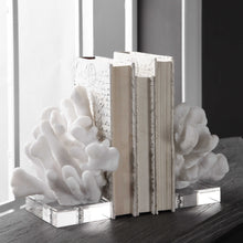 Load image into Gallery viewer, White Coral Bookends Pair