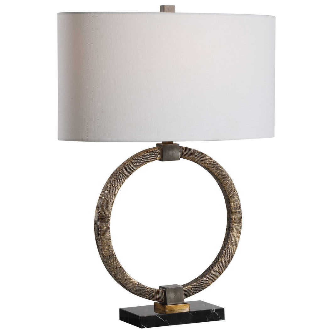 Relic Table Lamp in Antique Gold and Dark Bronze