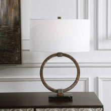 Load image into Gallery viewer, Relic Table Lamp in Antique Gold and Dark Bronze