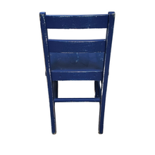 Load image into Gallery viewer, Vintage Blue Wooden Child's Chair