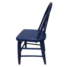 Load image into Gallery viewer, Vintage Blue Wooden Windsor Child's Chair