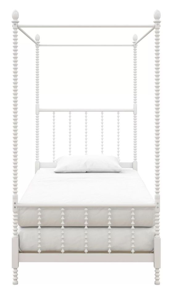 White Bobbiin Twin Four Poster Bed