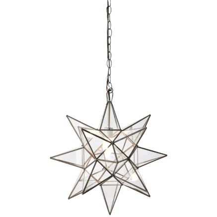 Clear Star Chandelier in Various Sizes