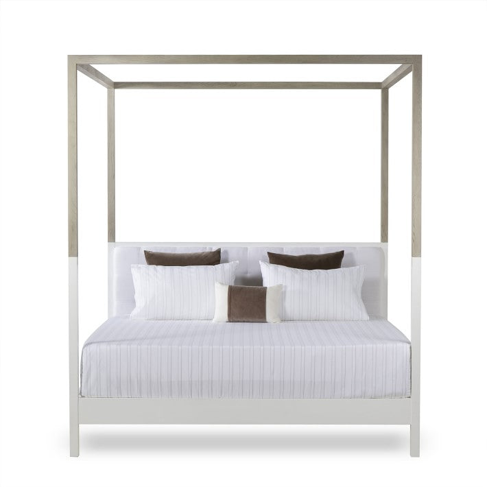 Lux Two Tone Lacqured Poster Bed - Queen