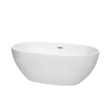 "Load image into Gallery viewer, Juno 63"" Free Standing Acrylic Soaking Tub"