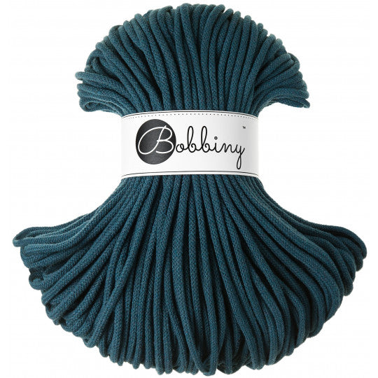 Premium Cotton Cord 5 mm Peacock Blue 500 gram