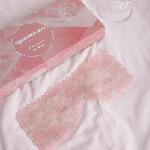 Rose Quartz Eye Mask with gift box