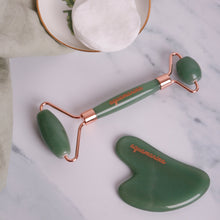 Load image into Gallery viewer, Jade Roller and Gua Sha Set