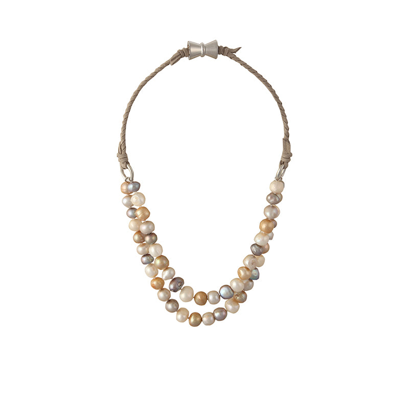 BOMBAY NECKLACE (MULTI ON TAN)