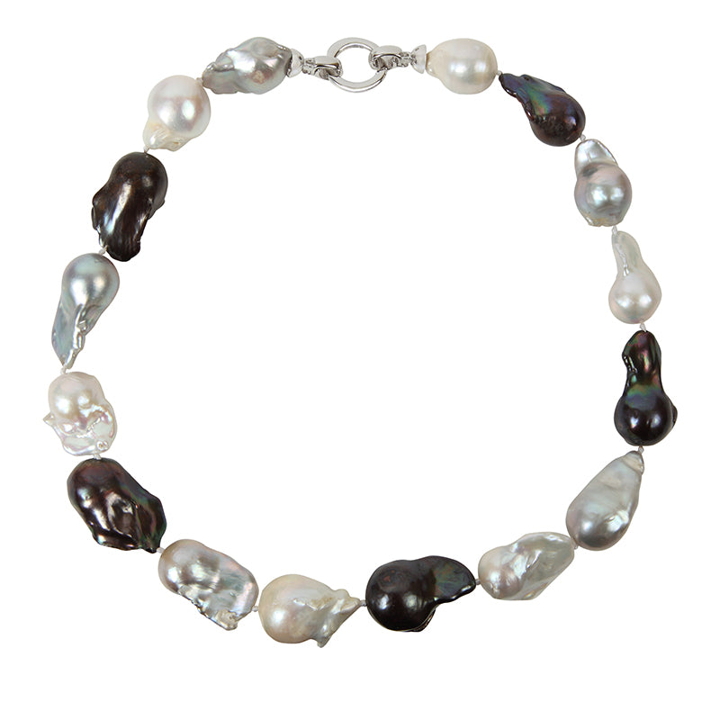 MULTI COLOR WILD PEARL SINGLE STRAND