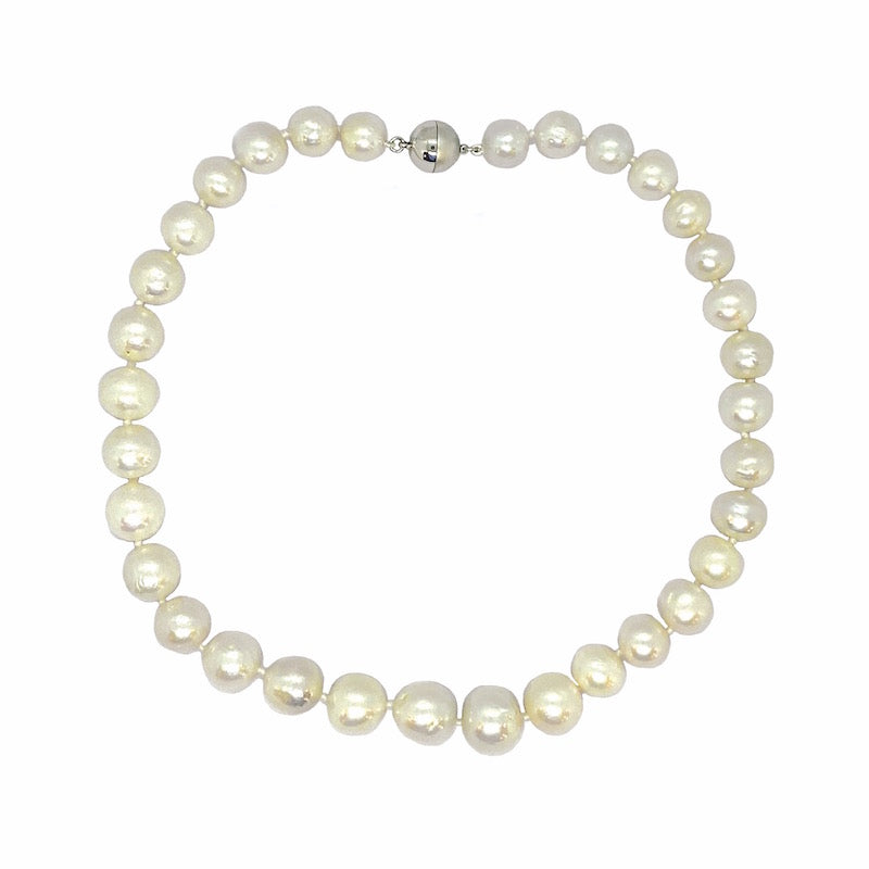 WHITE EDISON PEARL SINGLE STRAND