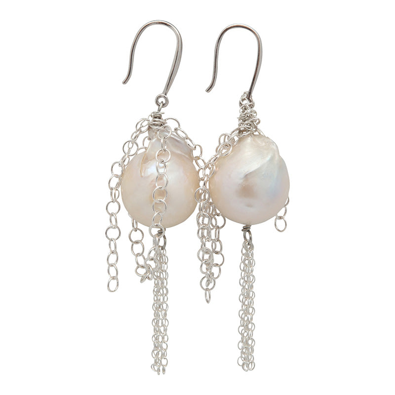 THE SYLVIA EARRING ON SILVER