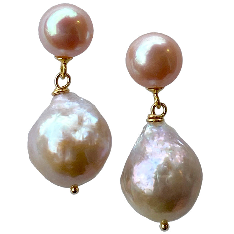 THE KATE EARRING (PINK ON GOLD)