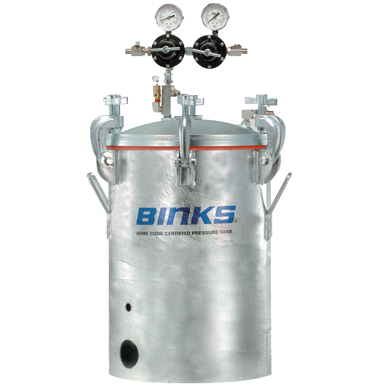 Binks ASME CODE Certified 5-Gallon Galvanized Pressure Tank
