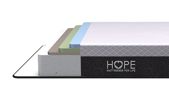 <hope signature collection, 4 layers premium foam,Hope Original, side sleeper, luxury and comfort, memory foam mattress, supportive mattress, made in the USA, CertiPUR-US certified, cooling, best mattress, free shipping,120-day trial, lifetime warranty>