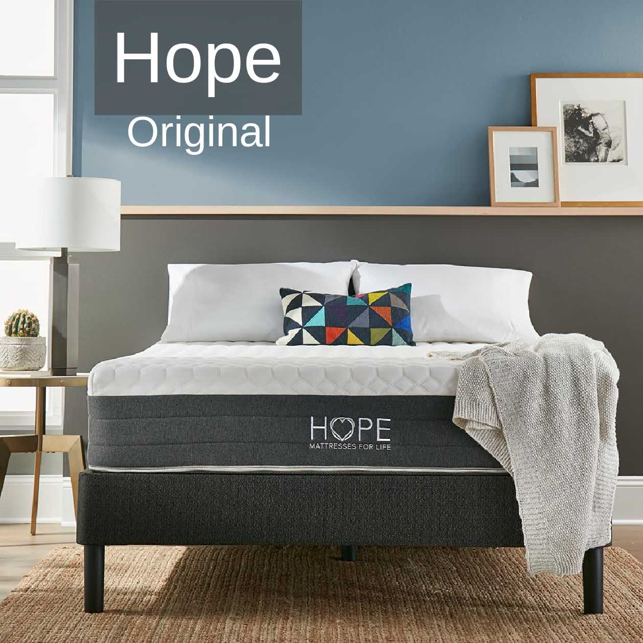 <hope signature collection, Hope Original, side sleeper, luxury and comfort, memory foam mattress, supportive mattress, made in the USA, CertiPUR-US certified, cooling, best mattress, free shipping,120-day trial, lifetime warranty>