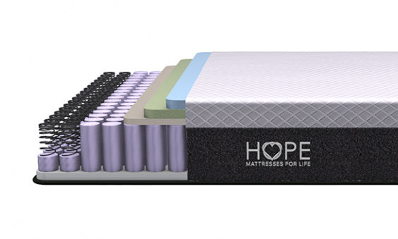 <hope signature collection, 4 layers premium foam, coils,Aspire Hybrid, side sleeper, stomach sleeper, back sleeper, , luxury and comfort, memory foam mattress, hybrid mattress,supportive mattress, made in the USA, CertiPUR-US certified, cooling, best mattress, free shipping,120-day trial, lifetime warranty>