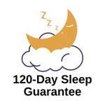 <120-day sleep guarantee, trial, hope classics collection, memory foam and hybrid mattresses, low monthly payments, everyday savings>