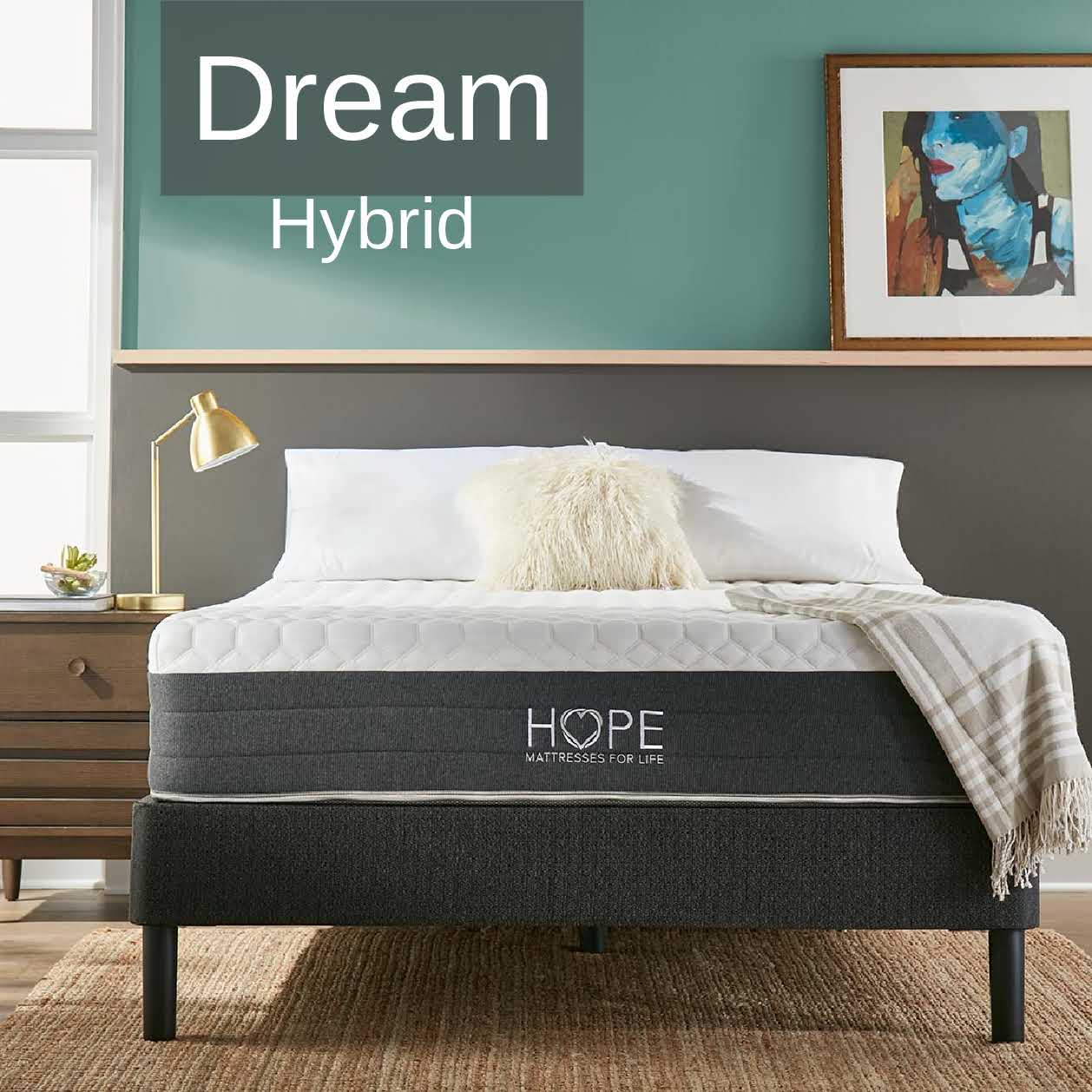 <hope signature collection, Dream Hybrid, side sleeper, stomach sleeper, back sleeper, , luxury and comfort, memory foam mattress, hybrid mattress,supportive mattress, made in the USA, CertiPUR-US certified, cooling, best mattress, free shipping,120-day trial, lifetime warranty>