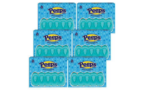 PEEPS 10 ct. Blue Marshmallow Chicks Package, Pack of 6