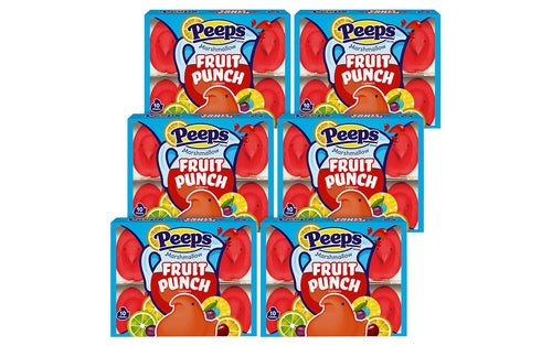 PEEPS 10 ct. Fruit Punch Flavored Marshmallow Chicks Package, Pack of 6
